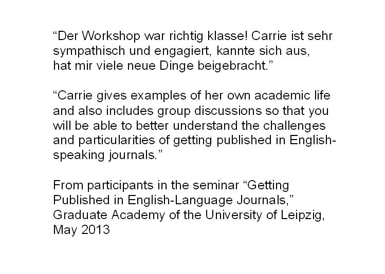 Academic Writing And Publishing In English Wissenschaftliches